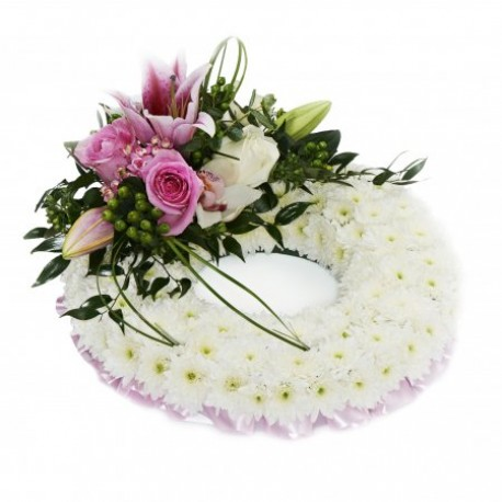 Pink and white based Wreath